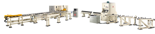 GEKA Automatic Lines - flat bar processing and angle processing