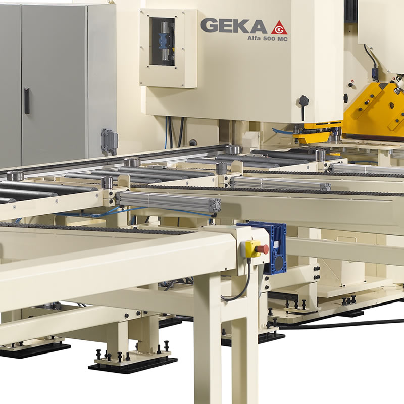 Automatic Lines for punching, marking and shearing